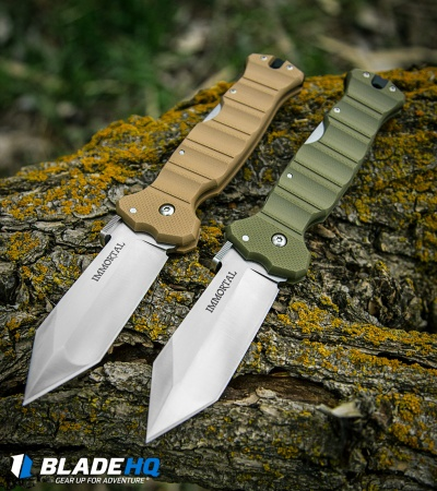 "Cold Steel Immortal Lock Back Knife OD Green G-10 (4"" Satin) 23GVG"