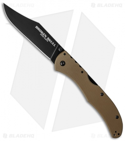 "Cold Steel Broken Skull II Knife Coyote Tan G-10 (4"" Black CTS-XHP) 54SBB"
