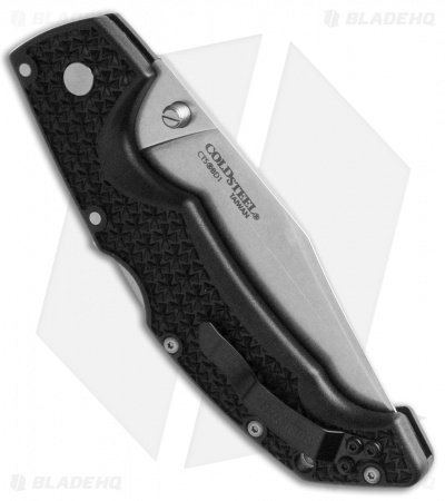"Cold Steel Voyager Large Clip Point Tri-Ad Lock Knife (4"" Stonewash) 29TLC"