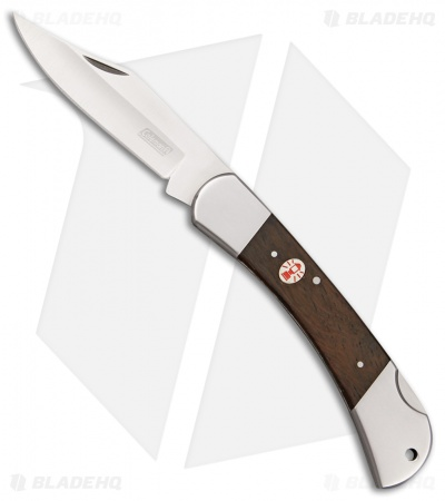 "Coleman Forester II Backlock Knife Brown Wood (3.3"" Satin)"