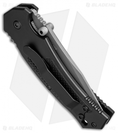 "Combative Edge M1X Tanto Liner Lock Knife Black (3.25"" Bead Blast Serr)"