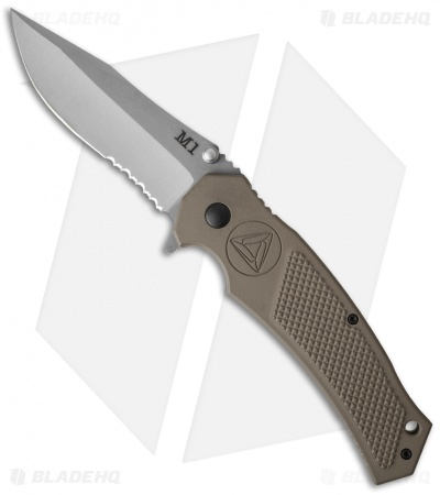 "Combative Edge M1-Manual Clip Point Knife FDE Aluminum (3.875"" Bead Blast)"