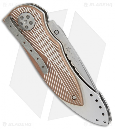 "CRKT Elishewitz E-Lock Folding Knife Bronze (3.9"" Satin Serr) 7333"