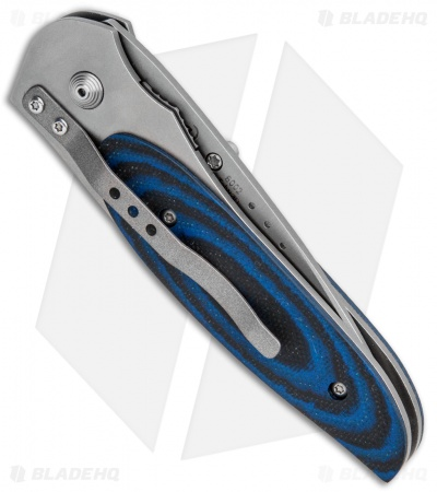 "CRKT Viele Wasp Liner Lock Knife Black/Blue G-10 (2.8"" Bead Blast Serr) 8012"
