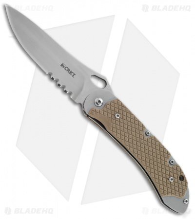 "CRKT Jernigan V.A.S.P. Folder Flipper Knife (3.71"" Satin Serr) 7481"