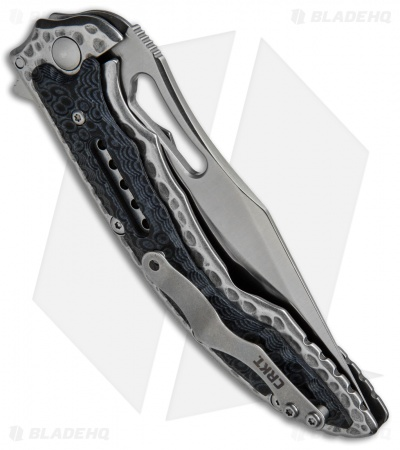"CRKT Ikoma Fossil Frame Lock Knife Black G-10 (3.96"" Satin) 5473"