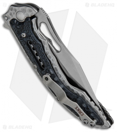 "CRKT Ikoma Fossil Small Frame Lock Knife Black G-10 (3.41"" Satin) 5462"