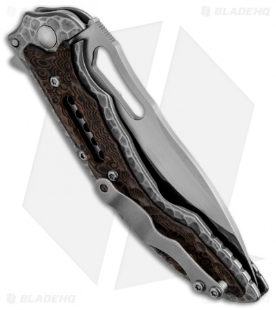 "CRKT Ikoma Fossil Small Frame Lock Knife (3.41"" Satin) 5460"
