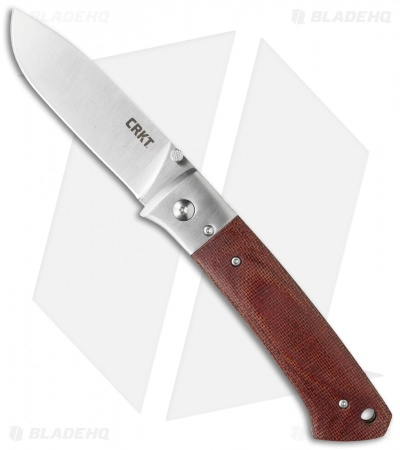 "CRKT Jernigan Torreya Liner Lock Pocket Knife (3.5"" Satin) 2879"