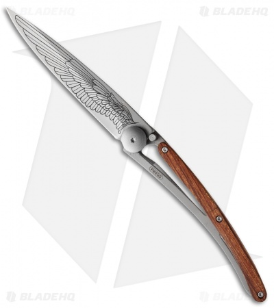 "Deejo Wing Tattoo 37g Ultra-Light Knife Rosewood (3.75"" Matte)"