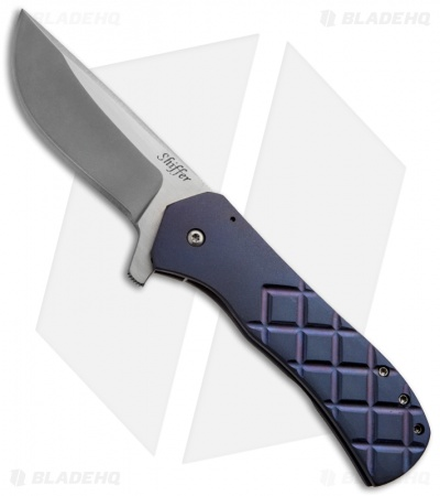 "Doc Shiffer Custom Recon Knife Double Anodized Titanium (3.5"" Stonewashed)"