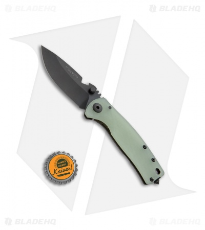 "DPx Gear HEST/F Urban Frame Lock Knife Jade Green G-10 (2.9"" Black)"