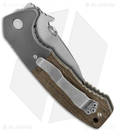 "Emerson Custom Prototype CQC-14 Tanto Knife Micarta/Ti (2.75"" Satin)"