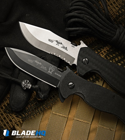 "Emerson Vindicator SFS Folding Knife (3.75"" Satin Serr)"