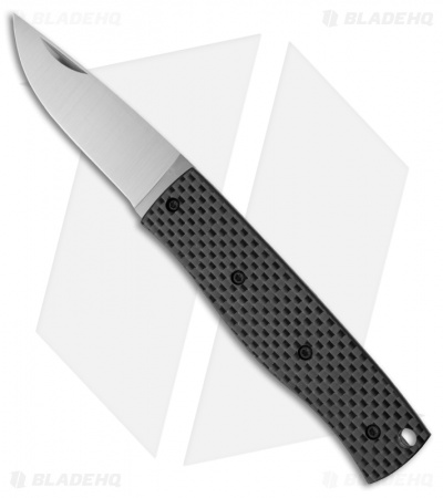 "Enzo Knives PK70 Carbon Fiber Slipjoint Pocket Knife (2.75"" Satin Plain)"