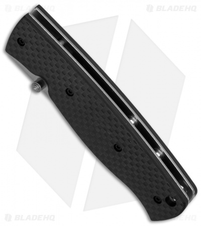 "EnZo Birk 75 Linerlock Folding Knife Black Carbon Fiber (3.0"" Satin)"