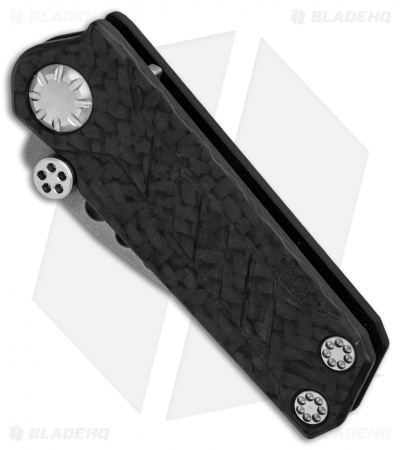 "EOS Prawn Friction Folder Knife CF + Black Aluminum (2.1"" Bead Blast)"