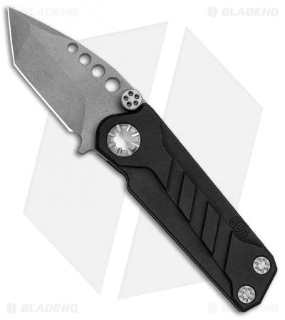 "EOS Prawn Tanto Friction Folder Knife Black Aluminum (2.1"" Gray)"