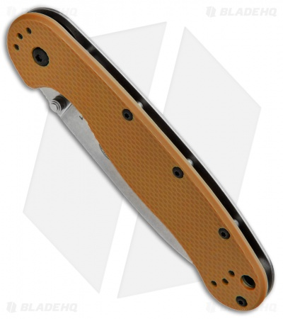 "ESEE Avispa Frame Lock Knife Coyote Brown (3.5"" D2 Stonewash) BRK"