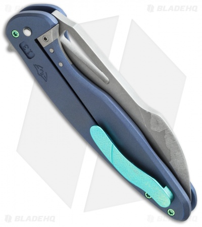 "Ferrum Forge + Arena Knives Tredecim Model 13 Flipper Blue Ti (3.625"" BB/SW)"