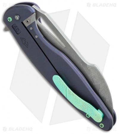 "Ferrum Forge + Arena Knives Tredecim Model 13 Flipper Purple Ti (3.625"" BB/SW)"