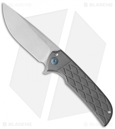 "Ferrum Forge N-TAC Flipper Knife Gray/Diamond Titanium (3"" Stonewash)"