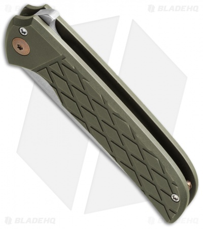 "Ferrum Forge N-TAC Flipper Knife Green/Diamond Titanium (3"" Stonewash)"