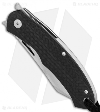 "Kansei Matsuno Custom LRF-05 Liner Lock  Flipper Knife Carbon Fiber (2.6"" Satin)"