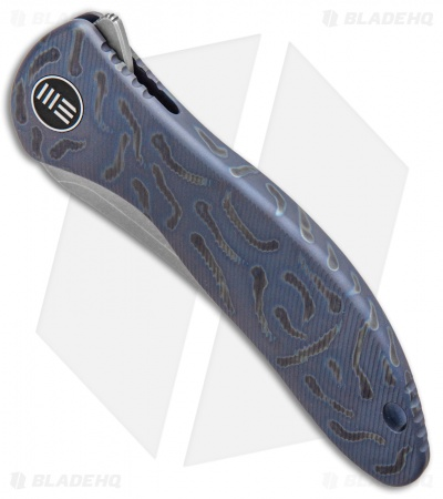 "WE Knife Co. Synergy2 Tanto Integral Frame Lock Knife Flamed Ti (3.5"" Stonewash)"