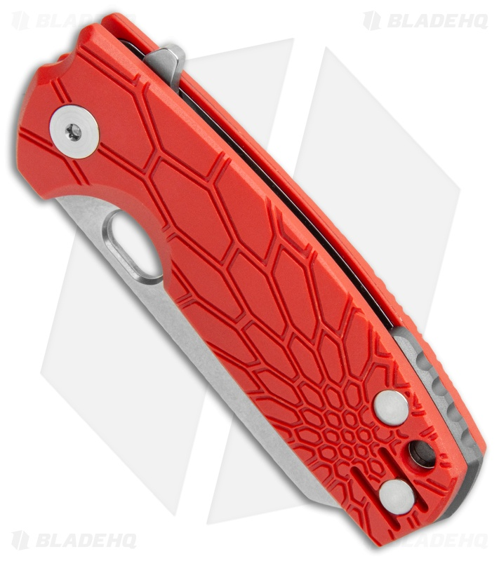 "Fox Knives Baby Core Mini Liner Lock Knife Red FRN (2.35"" Stonewash)"