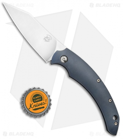 "Fox Knives Dragotac ""Piemontes"" Compact Friction Folder Knife Gray (3"" Satin)"
