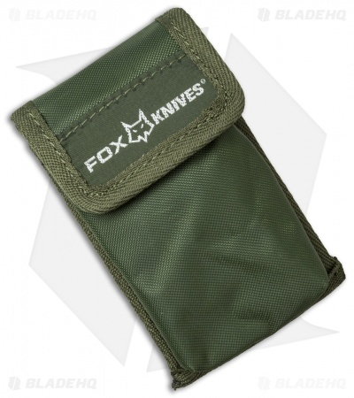 Fox Knives Folding Tableware Camping Set with Sheath (Green)