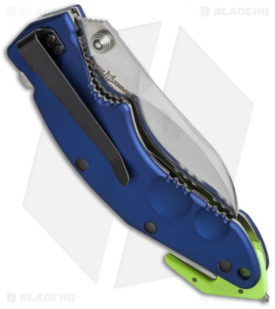 "Fox Knives Sierra Rescue Liner Lock Knife Blue Al (3.5"" Satin Serr) FX-151R"