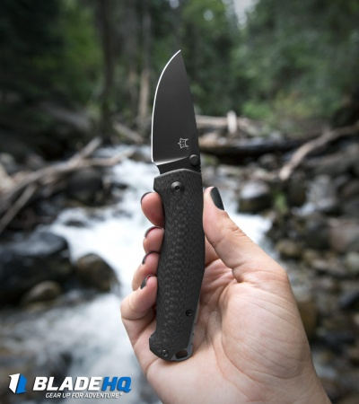 "Fox Knives TUR Liner Lock Knife Carbon Fiber (2.8"" Black) FX-528 B"