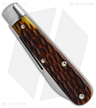 "GEC Tidoute Boy's Knife 2.325"" Yellow Jigged Bone 142116"