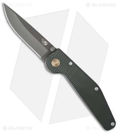 "GT Knives Police Drop Point Manual Knife Green (3.625"" Gray) GT109"