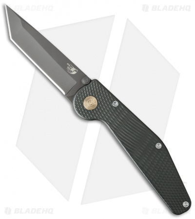 "GT Knives Police Tanto Manual Knife Green (3.625"" Gray) GT309"