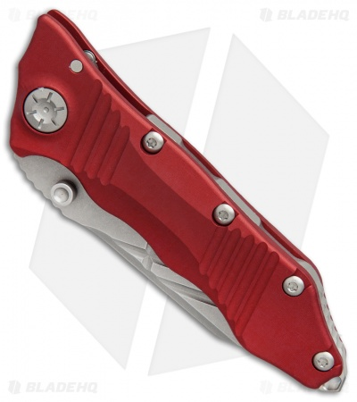 "Guardian Tactical Deltrix Nano Combat Folder Knife Red (3.1"" Stonewash)"