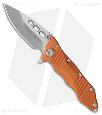 "Guardian Tactical Helix Nano Flipper Knife Orange Aluminum (3.25"" Stonewash)"