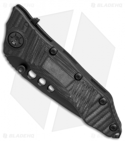 "Guardian Tactical Helix Nano Tanto Flipper Knife Black G-10 (3.125"" Black)"