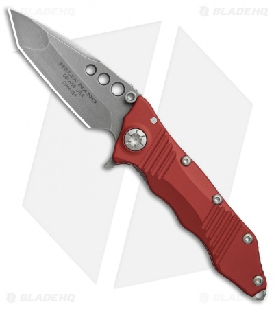 "Guardian Tactical Helix Nano Tanto Flipper Knife Red (3.125"" Stonewash)"
