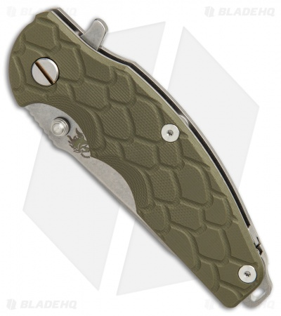 "Hinderer Knives Jurassic Frame Lock Knife OD Green G-10 (3.375"" Stonewashed)"