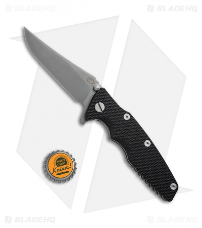 "Hinderer Knives Eklipse Gen 2 Bowie Knife Black G-10 (3.5"" Gray DLC)"