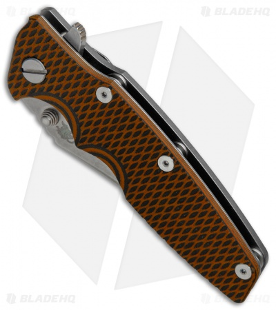 "Hinderer Knives Eklipse Gen 2 Bowie Knife Orange/Black G-10 (3.5"" Working)"