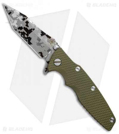 "Hinderer Knives Eklipse Flipper Frame Lock Knife OD Green G-10 (3.5"" Digi Camo)"
