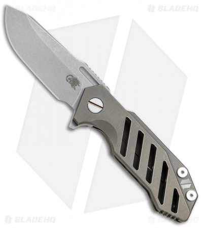 "Hinderer Knives Half Track Osseus Knife Bronze Ti (2.75"" Working Finish)"