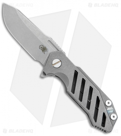 "Hinderer Knives Half Track Osseus Knife Gray Ti (2.75"" Working Finish)"