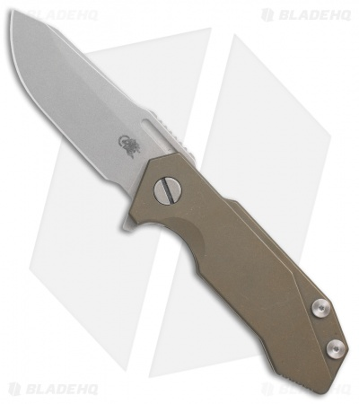 "Hinderer Knives Half-Track Frame Lock Knife Battle Bronze Ti (2.75"" Working)"