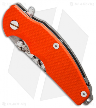 "Hinderer Knives Jurassic Frame Lock Knife Orange G-10 (3.375"" Digi Camo)"