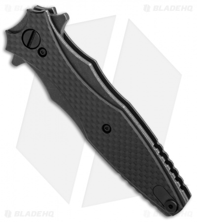 "Hinderer Knives Maximus Dagger Flipper Knife CF Battle Black (3.5"" Battle Black)"